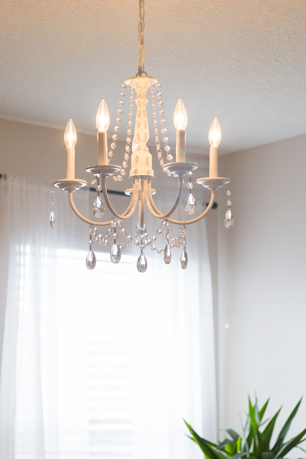 diy crystal chandelier easy tutorial