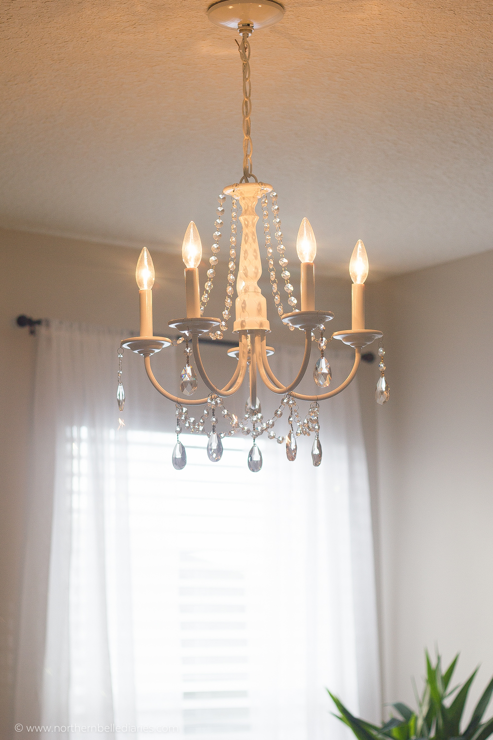 DIY Crystal Chandelier (easy tutorial)