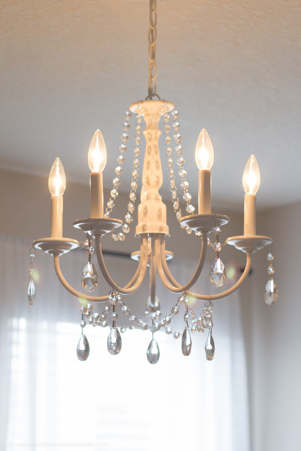 Unique You can make your own DIY crystal chandelier This site shows you how