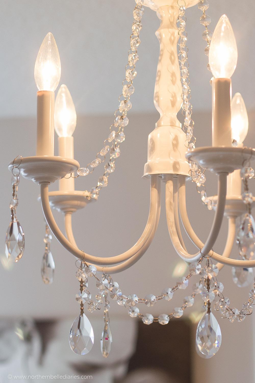 diy crystal chandelier easy tutorial