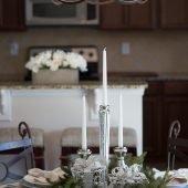 Christmas tablescape small table #decor #decor tips #ad #AtHome