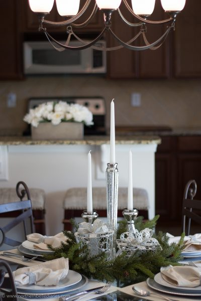 Christmas tablescape small table #decor #decor tips #ad #AtHome