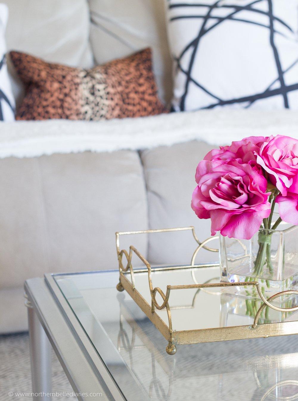 Our Black and White Living Room | La La Lisette