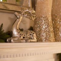 Christmas mantel decoration idea