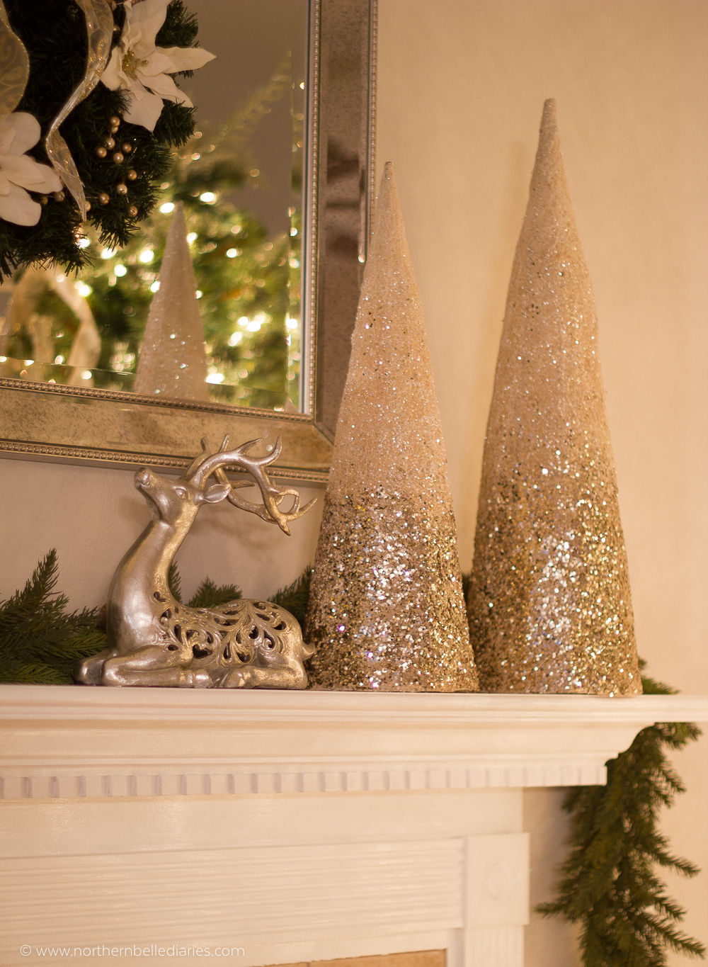 Christmas mantel decoration idea #christmas
