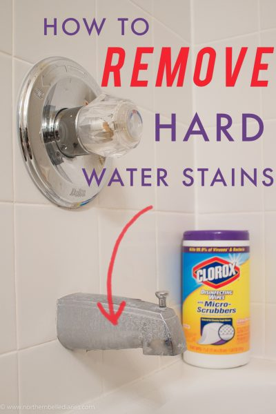 How to Remove Hard Water Stains #cleaning #cleaningtips #bathroom #hard #water #stain