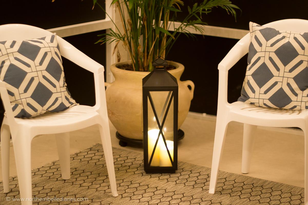 #AtHomefinds lantern at night