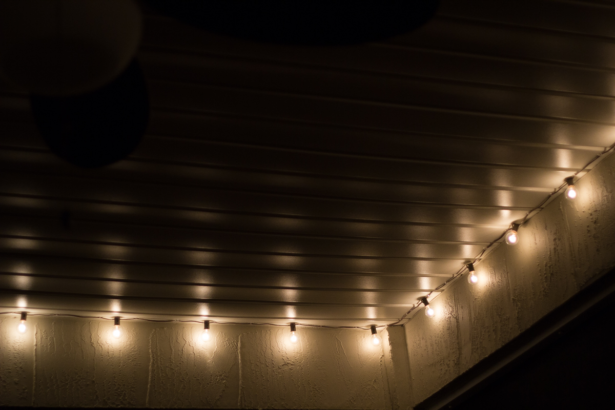 String Lights At Night : Back Patio Transformation + Garden Update - Northern Belle Diaries