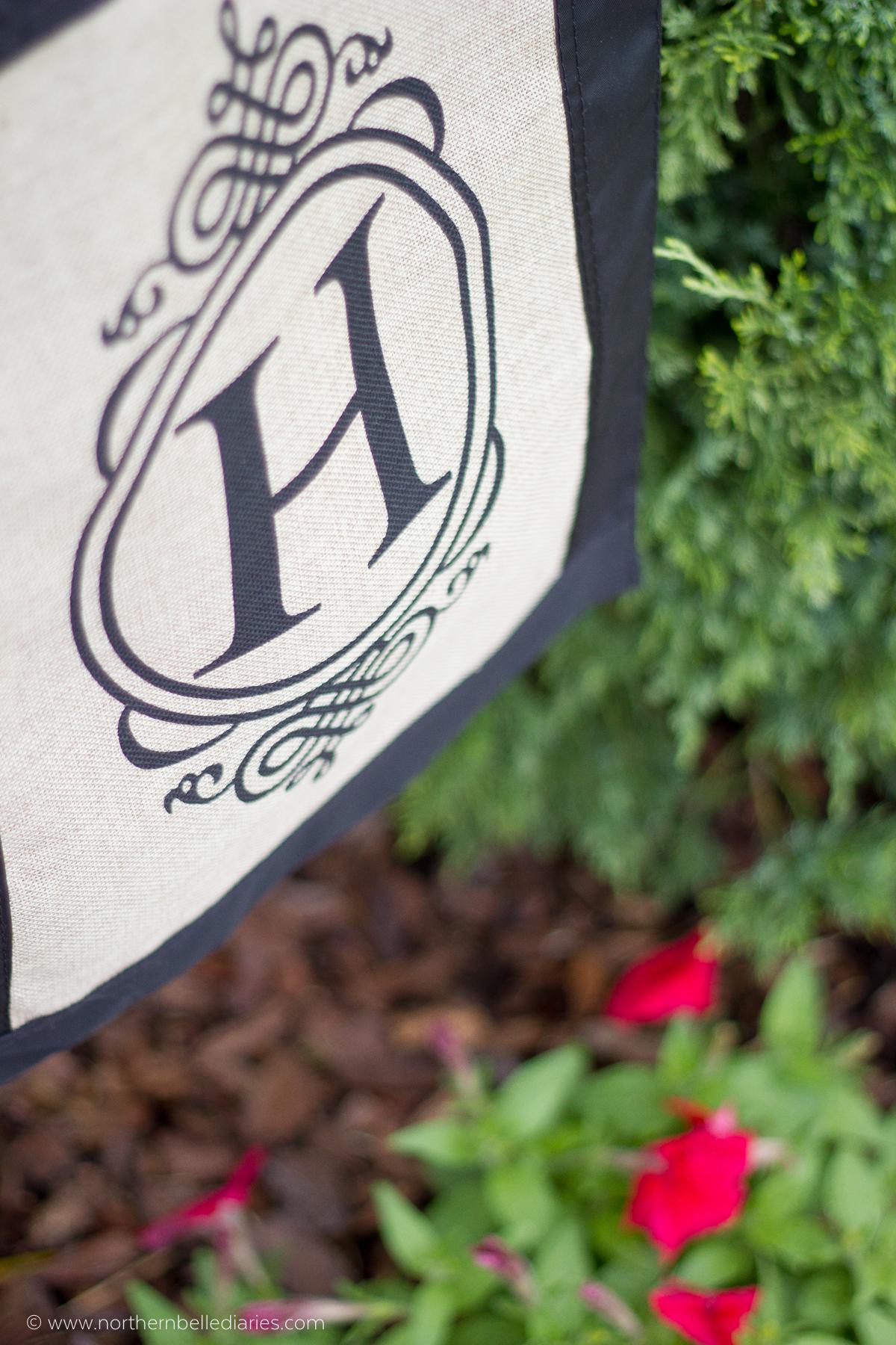 H monogram garden flag #AtHomefinds