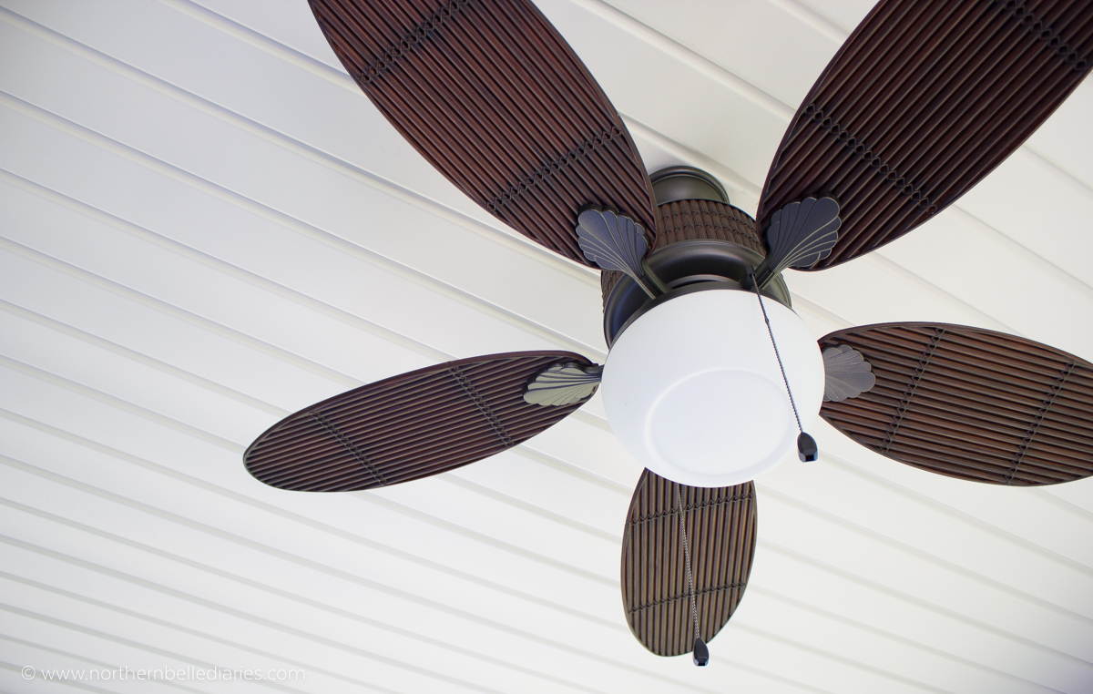 Oasis Patio with At Home fan #decor