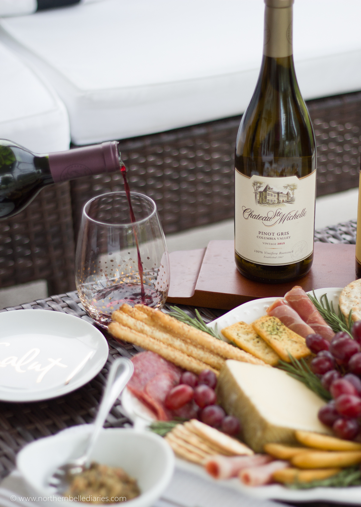 One perfect sip moment with Chateau Ste Michelle wine
