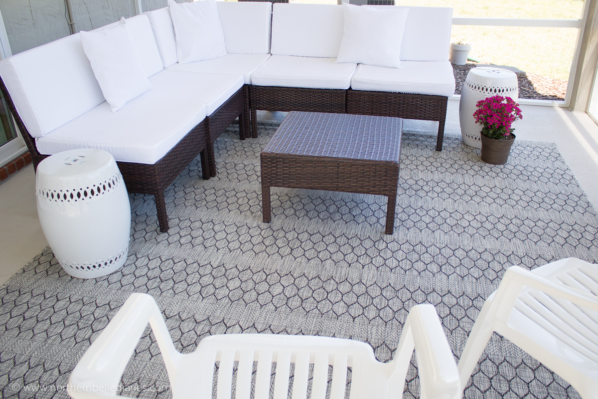 Patio with At Home rug #decor