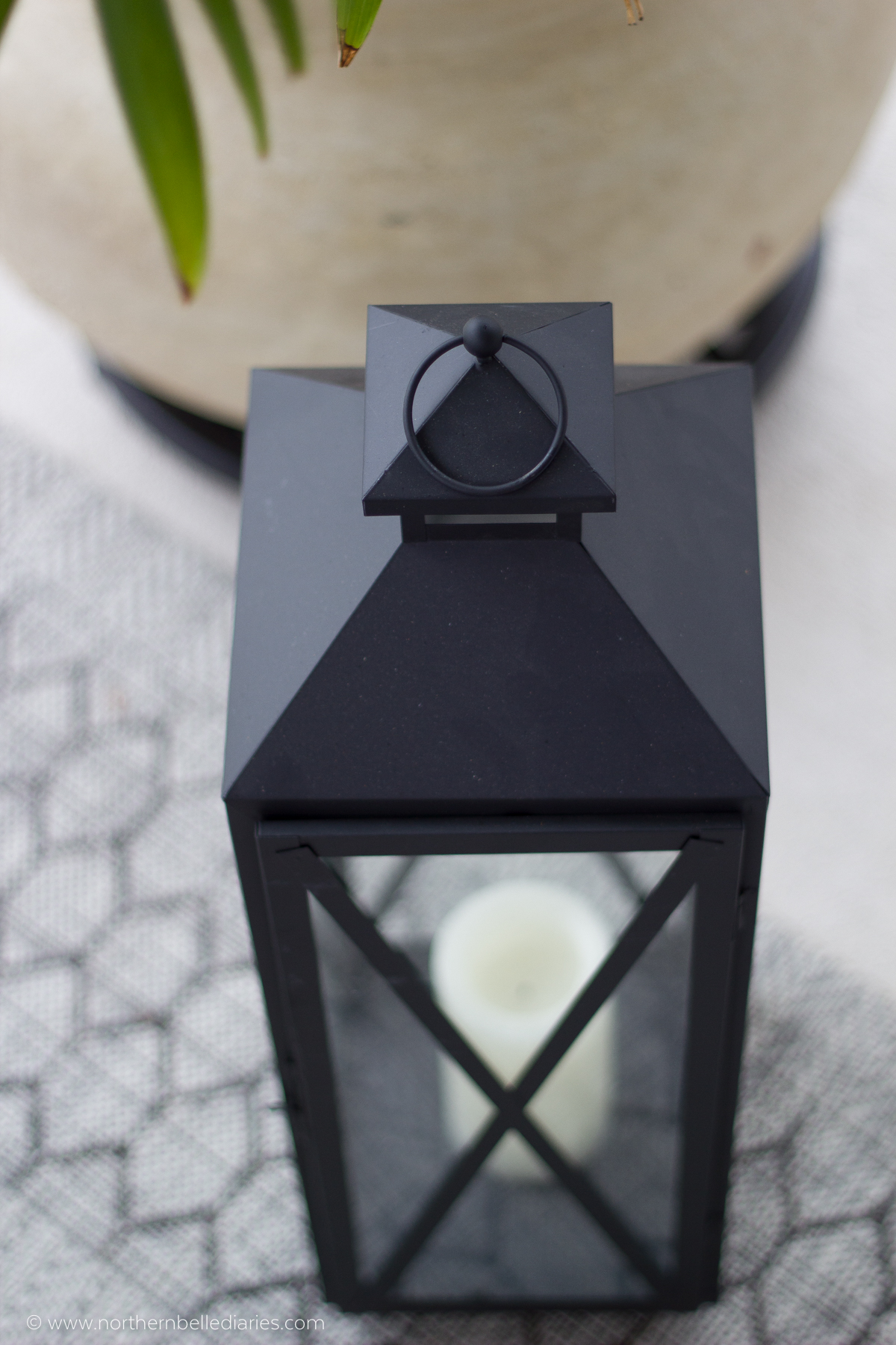 large outdoor lantern with candle #AtHomefinds