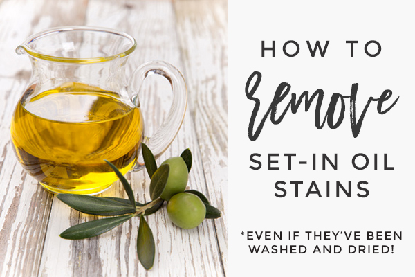 How to remove set in oil stains - Northern Belle Diaries #cleaning #stains #oilstain #diy #home #laundry