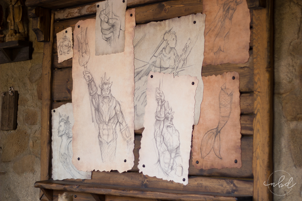 Magic Kingdom Little Mermaid sketches