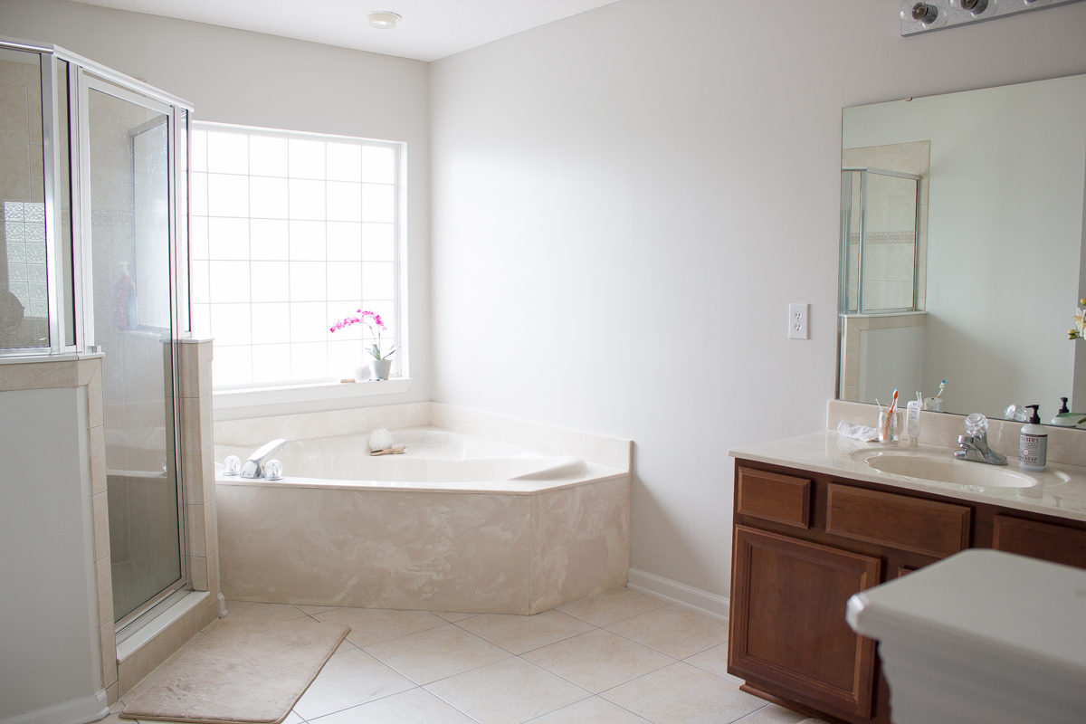 after painting master bath