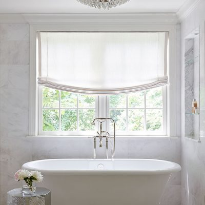 Luxurious and Bright Grey Master Bath Inspiration