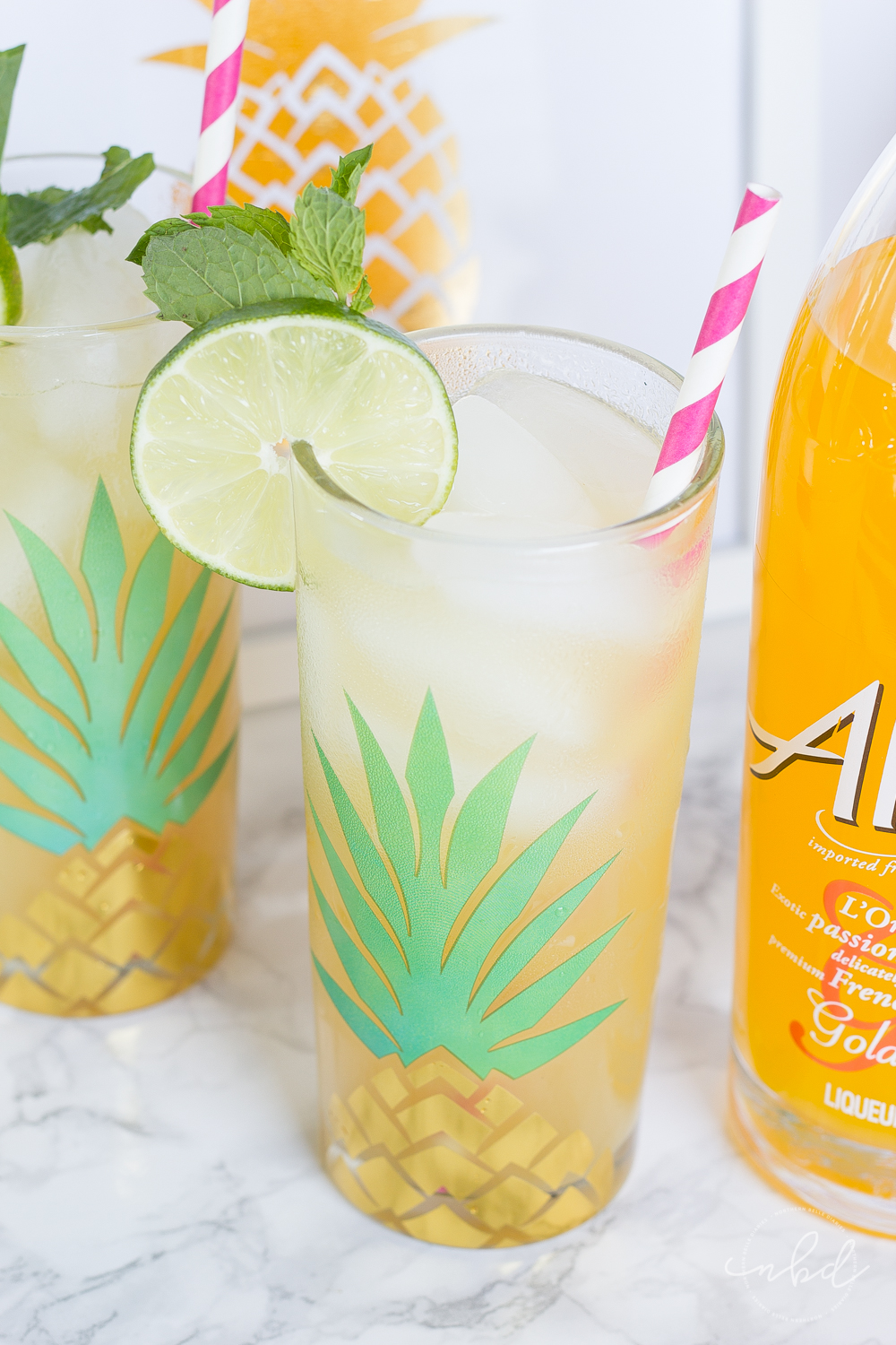 Gold Pineapple Passion Fever cocktail recipe with Alize Passion Gold