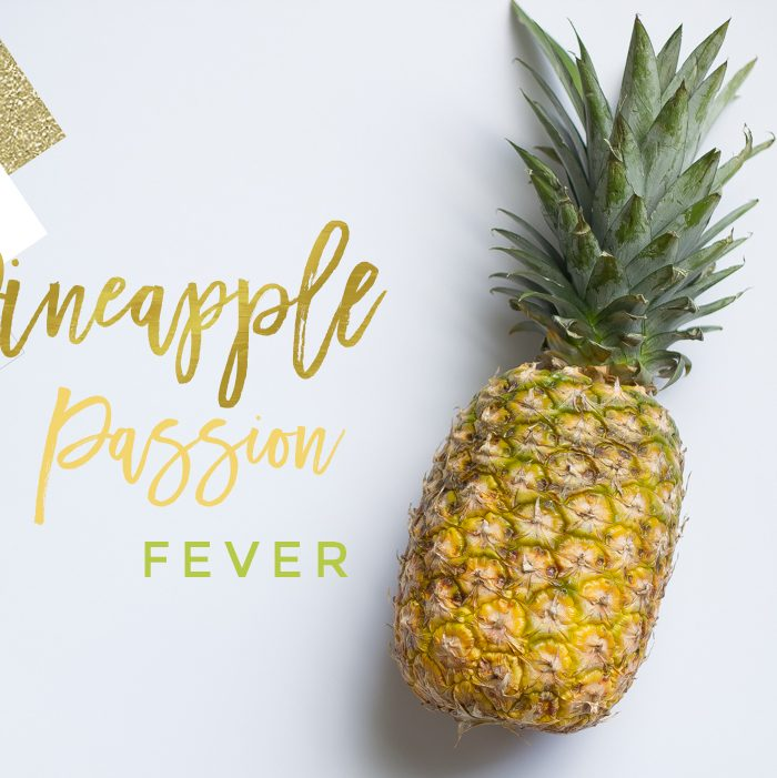 Gold Pineapple Passion Fever Cocktail
