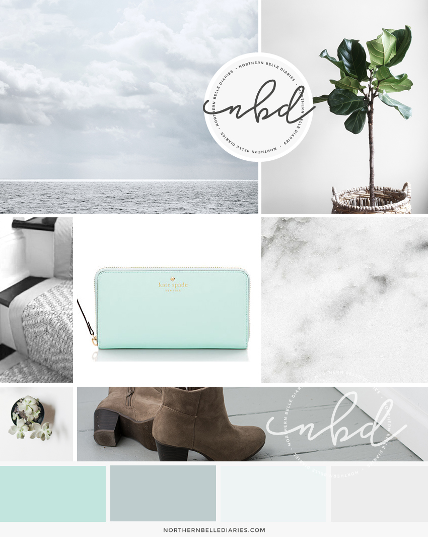 Moodboard for blog design by High Note Designs, LLC
