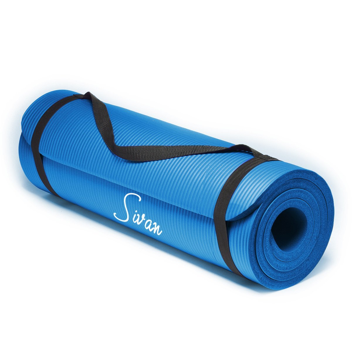 1/2 inch padded yoga mat for pilates