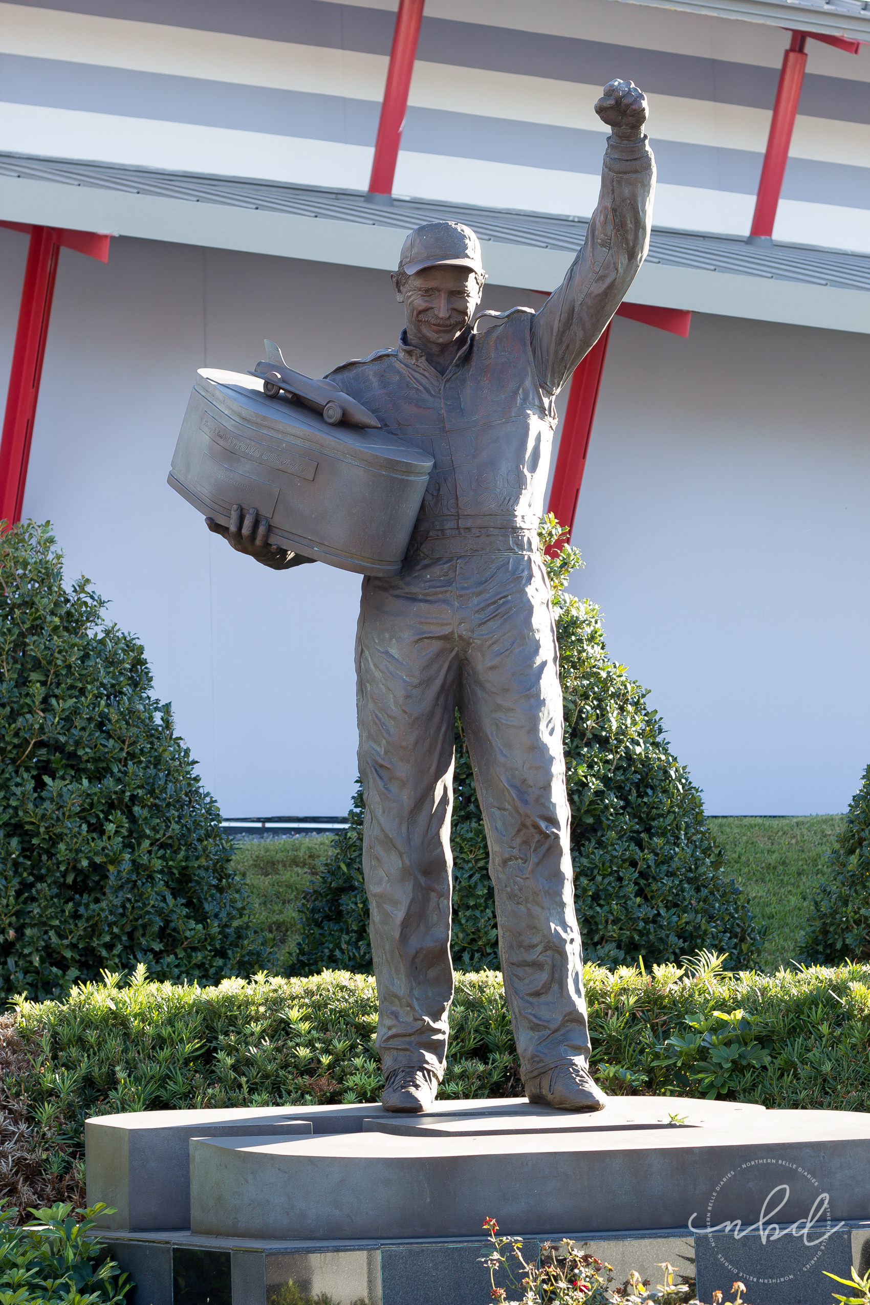 Daytona International Speedway Dale Earnhardt statue - Daytona Beach