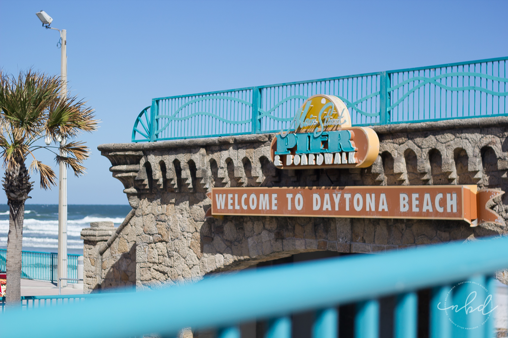 Main Street Pier & Boardwalk welcome sign - Daytona Beach