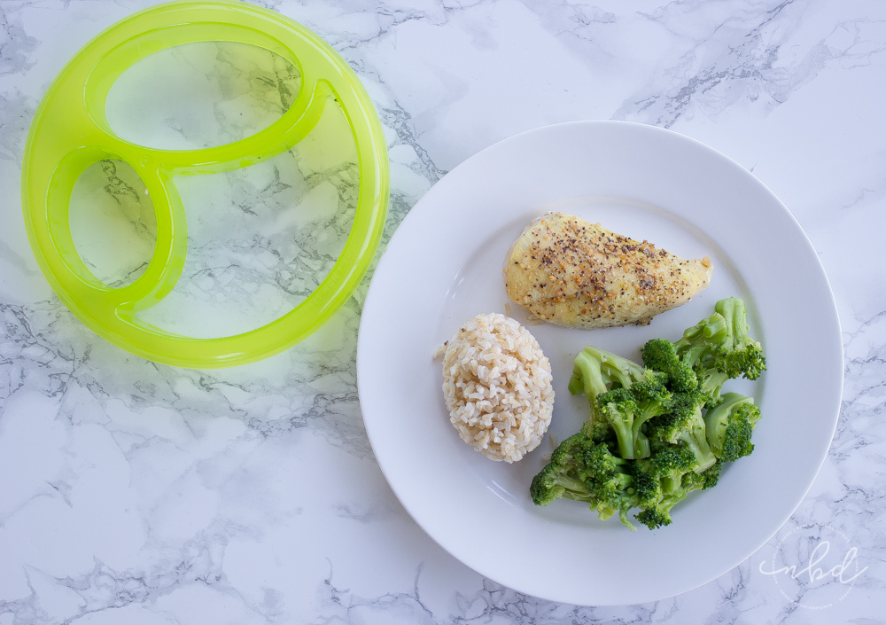 NutriBullet LEAN portion-control guide off plate