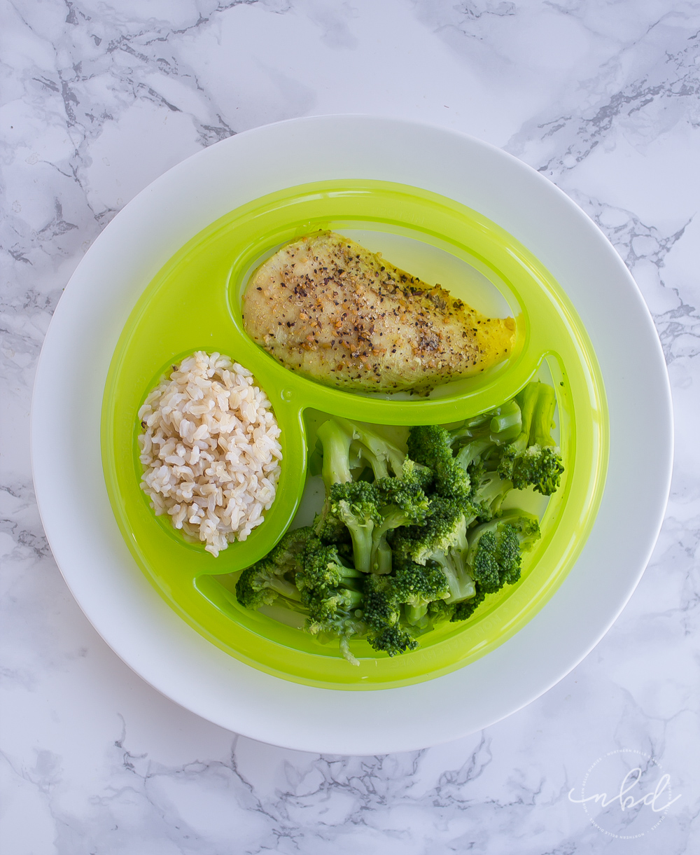 NutriBullet LEAN portion-control guide on plate