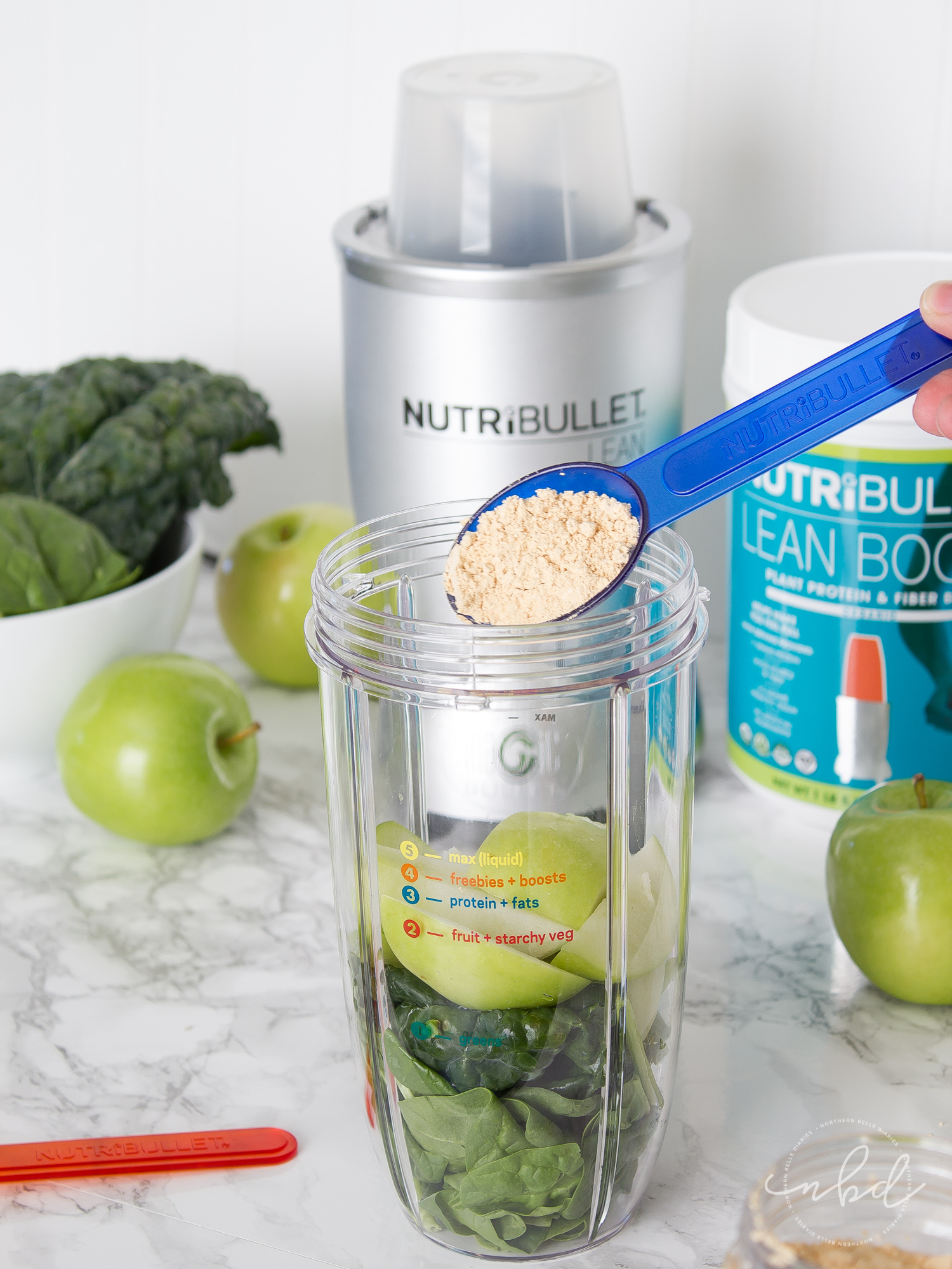 NutriBullet LEAN system 7-Day transformation adding protein