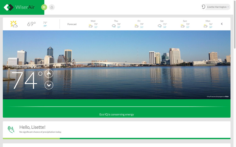 Wiser Air desktop dashboard