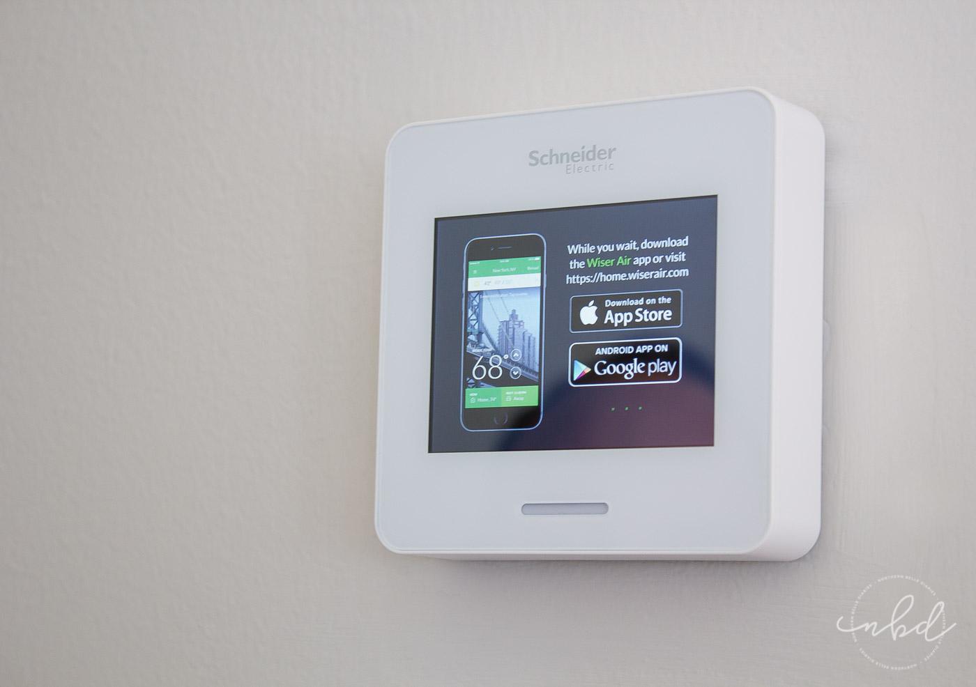 Wiser Thermostat installed