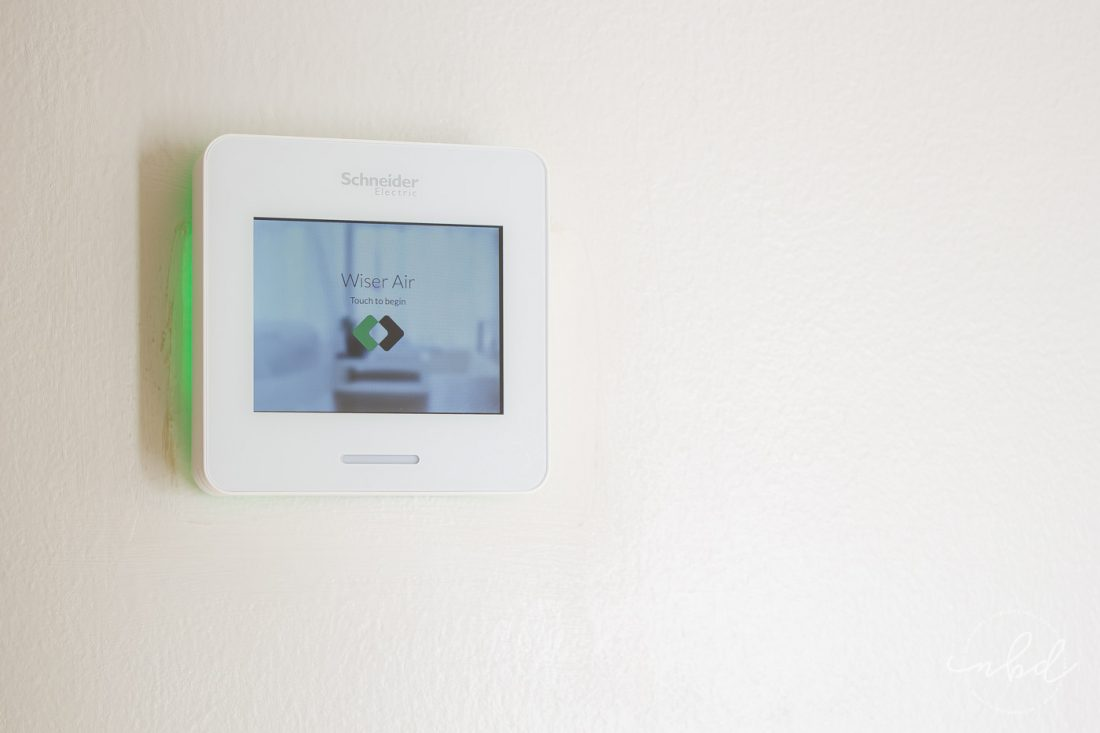Wiser Thermostat setup screen