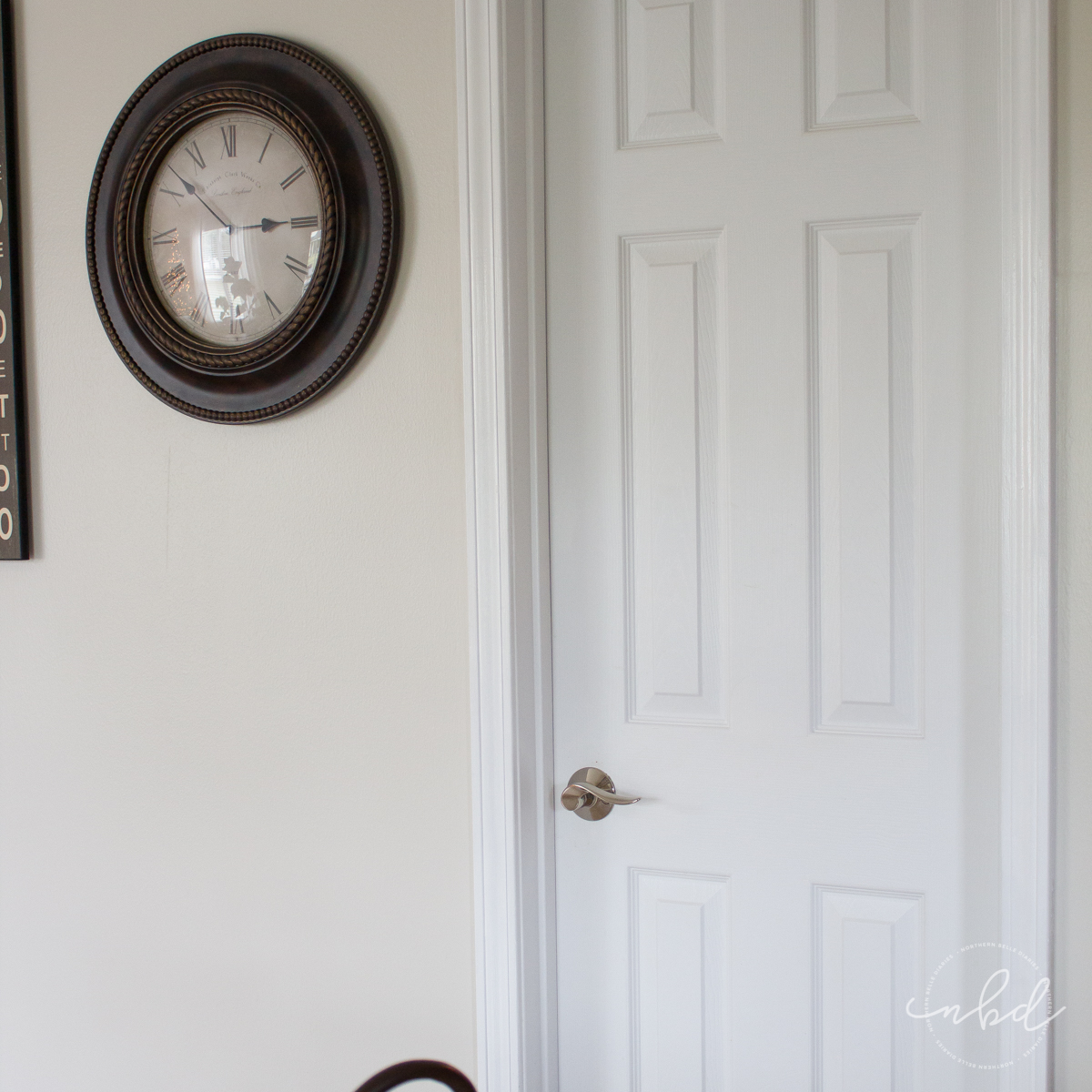 Pantry door after with Schlage® Sacramento Lever in bright chrome
