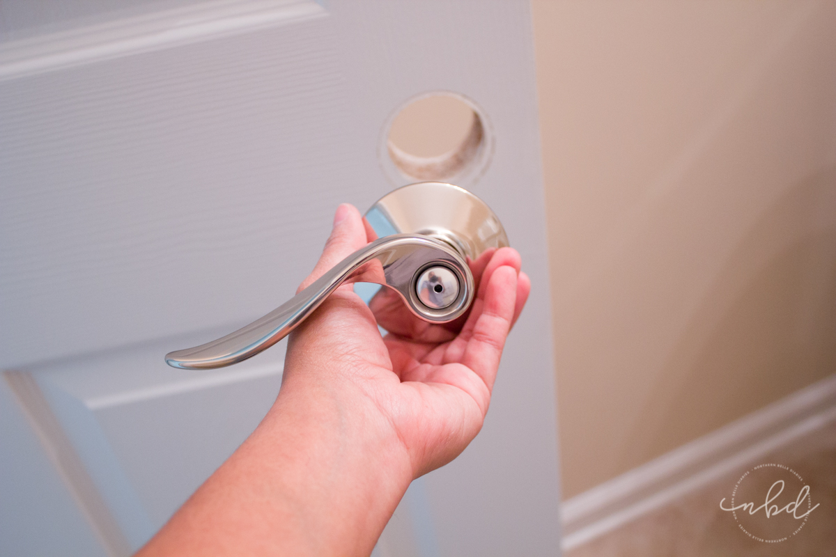 How to Install Reversible Doorknobs - start with the exterior knob