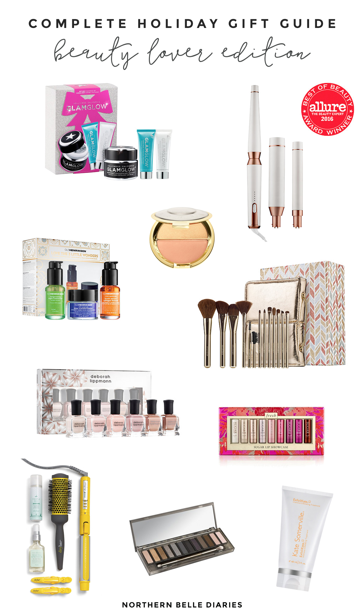 The Complete Holiday Gift Guide for the Beauty Lover #beauty #gifts #christmas #giftguide