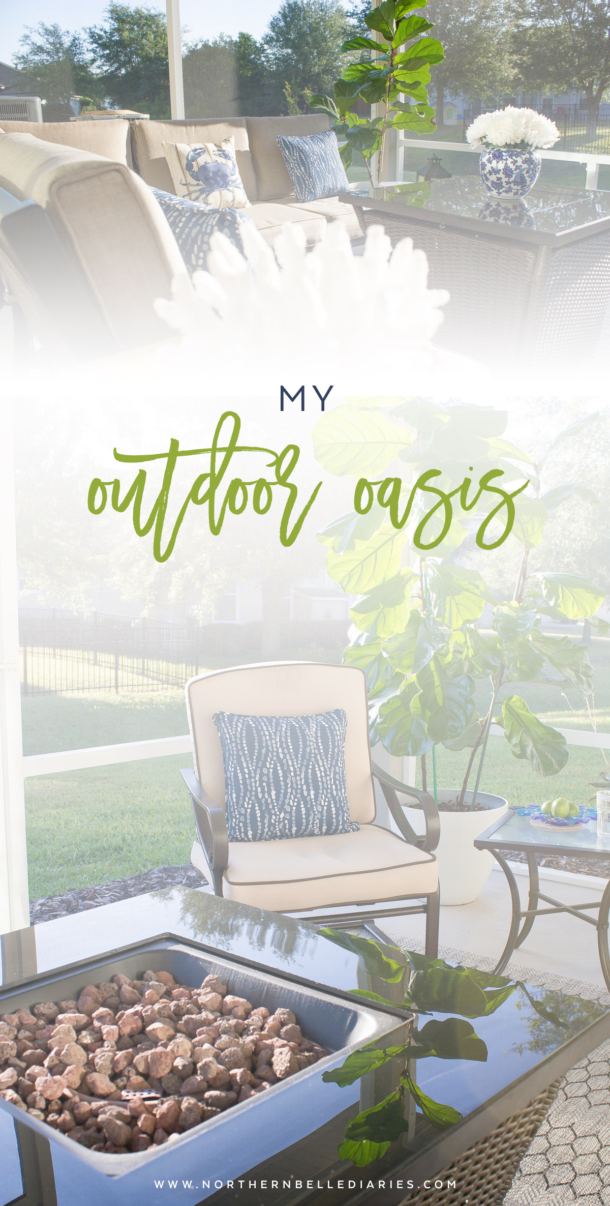 Affordable patio makeover with Lowe's #MyOutdoorOasis #ad - Northern Belle Diaries