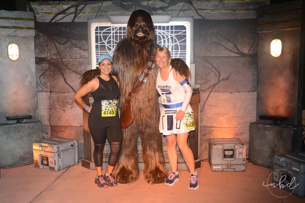 Disney Star Wars Half Marathon The Dark Side 5k | Chewbacca