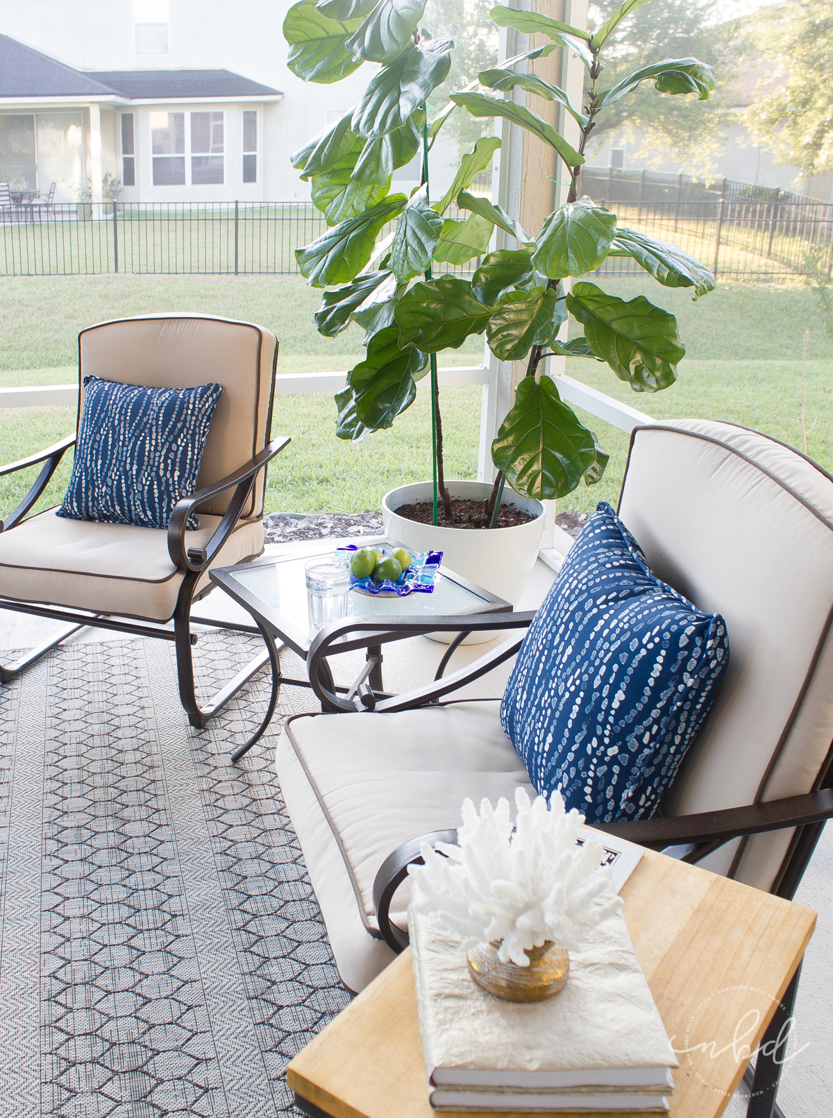 Lowe's #MyOutdoorOasis two chairs - Northern Belle Diaries