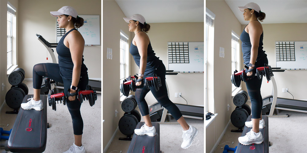 The Best Lower Body Exercises for Home Workouts | Dumbbell Step-Ups