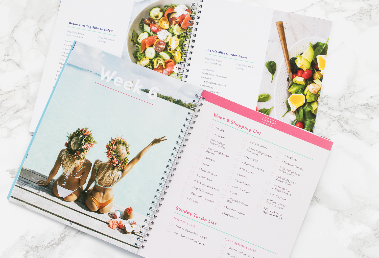 BodyBoss Nutrition Guide has a weekly shopping list and Sunday To-Do checklist to help you start the week strong