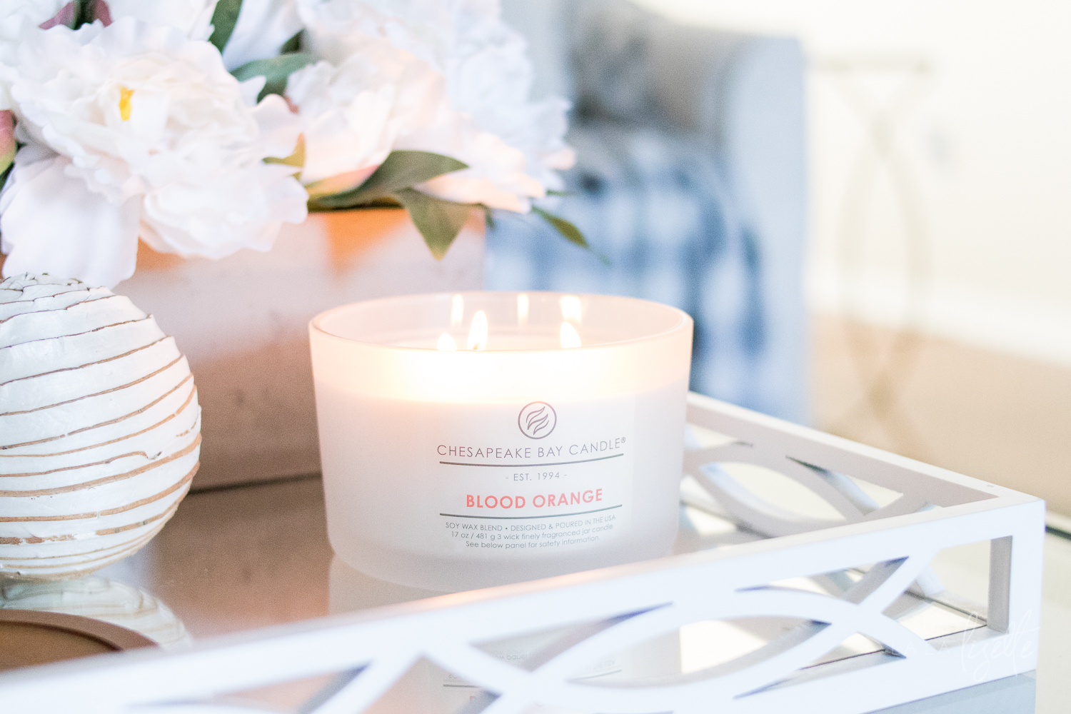 Chesapeake Bay Candle - The Heritage Collection Blood Orange lit | La La Lisette