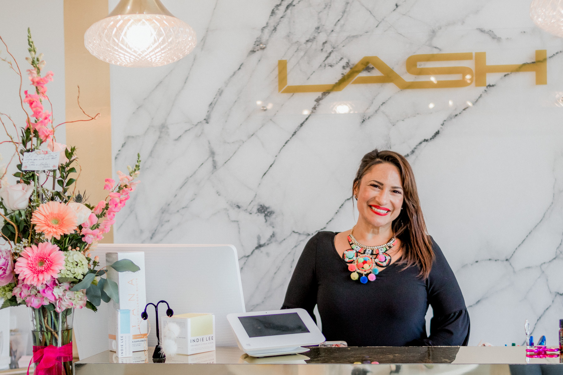 "Tammy, ""Governor of Gorgeous,"" the owner of LASH Jax in Jacksonville Beach, Florida"
