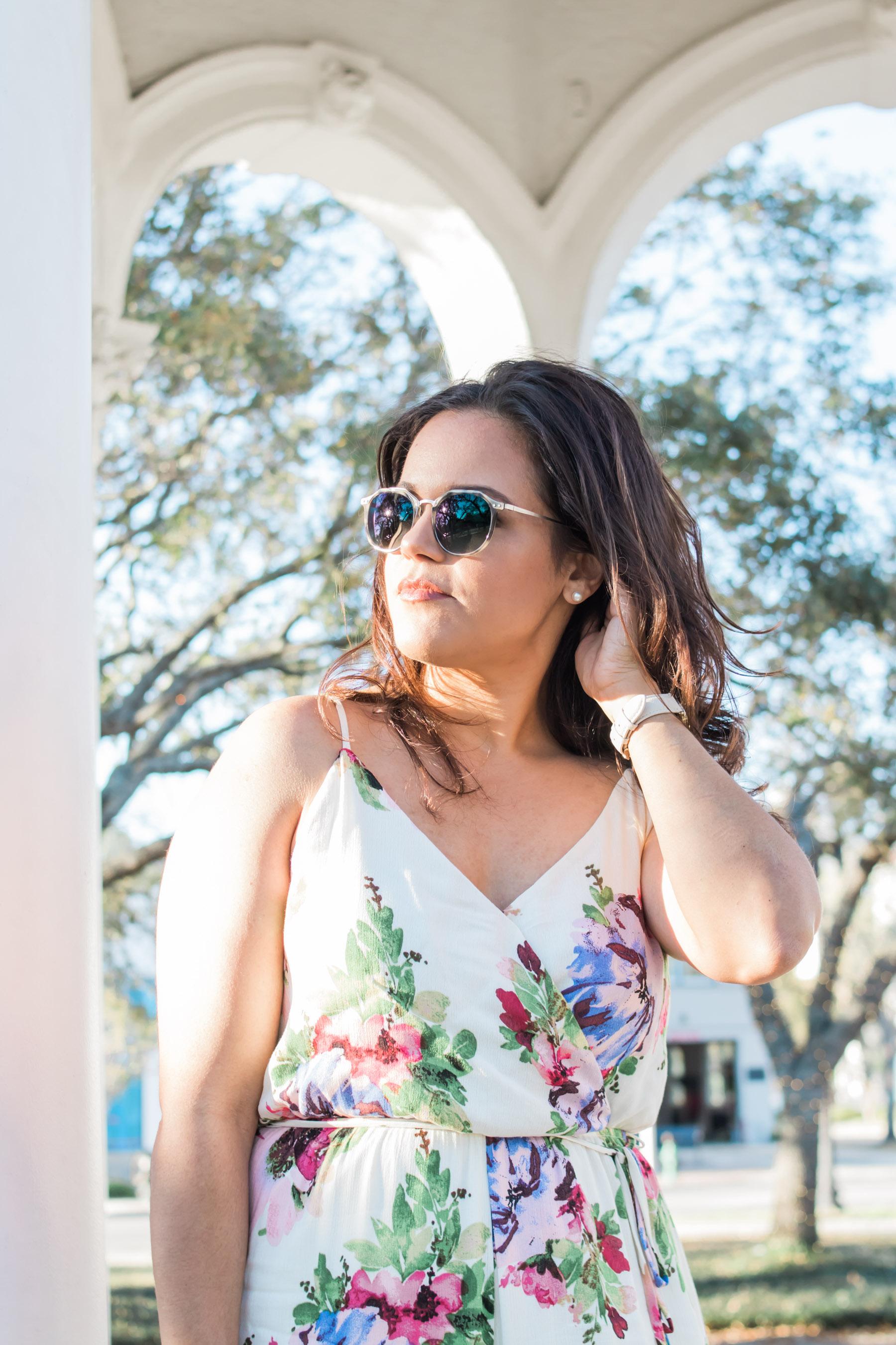 woman wearing Zenni Optical Sunglasses