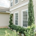 home with beautiful landscaping junipers hollies and hedge