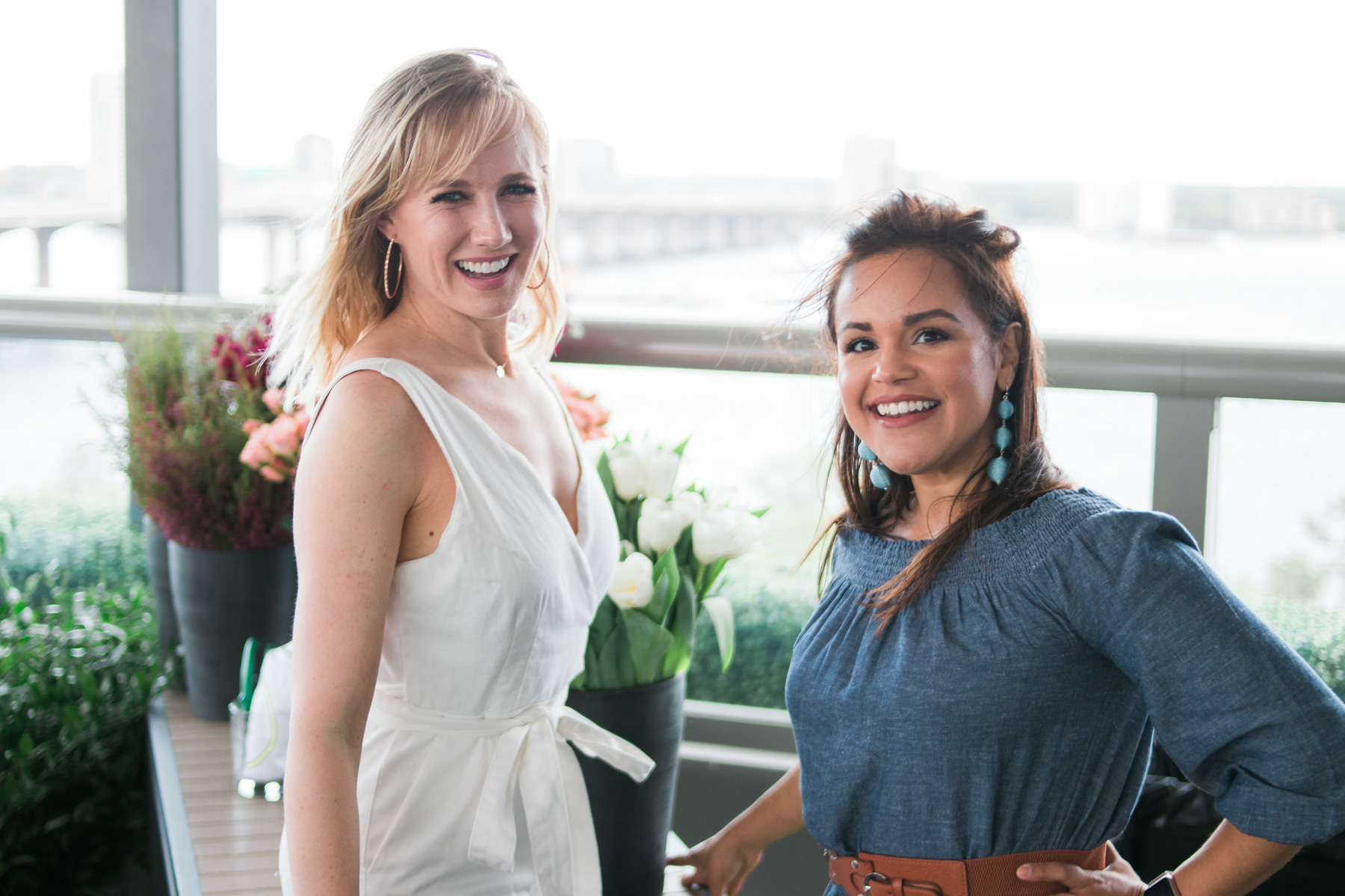 Nicole from Alice's Table in Jacksonville with La La Lisette blogger from Jacksonvllle
