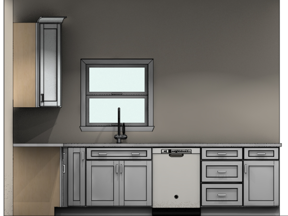 revised kitchen cabinet mockup window CliqStudios