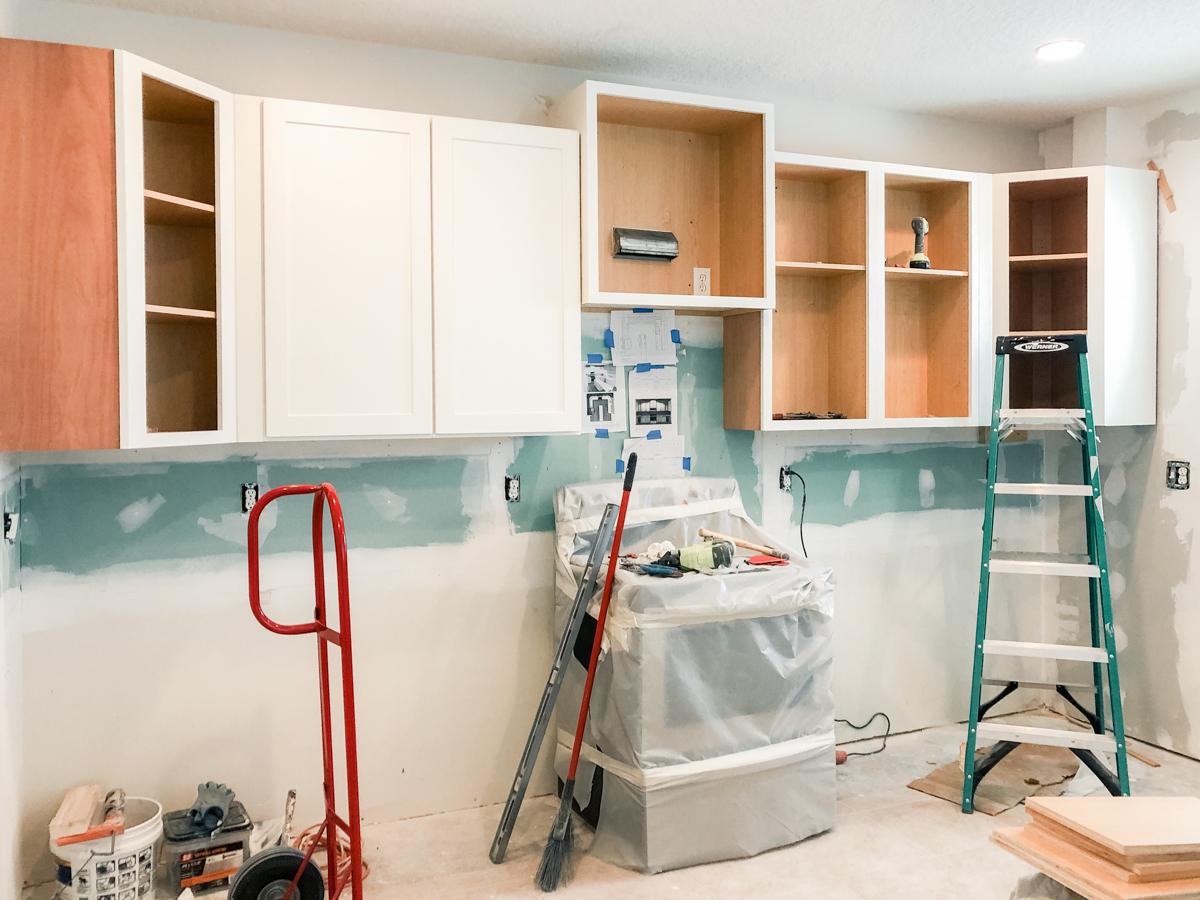 upper cabinet install