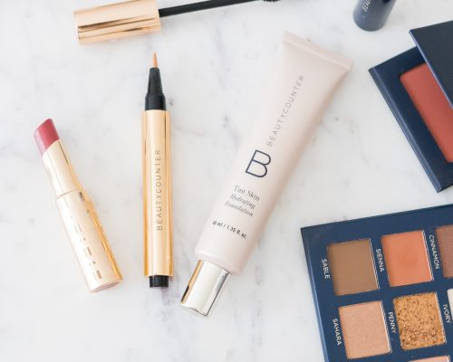 safer beauty Beautycounter products blush, concealer, and Tint Skin