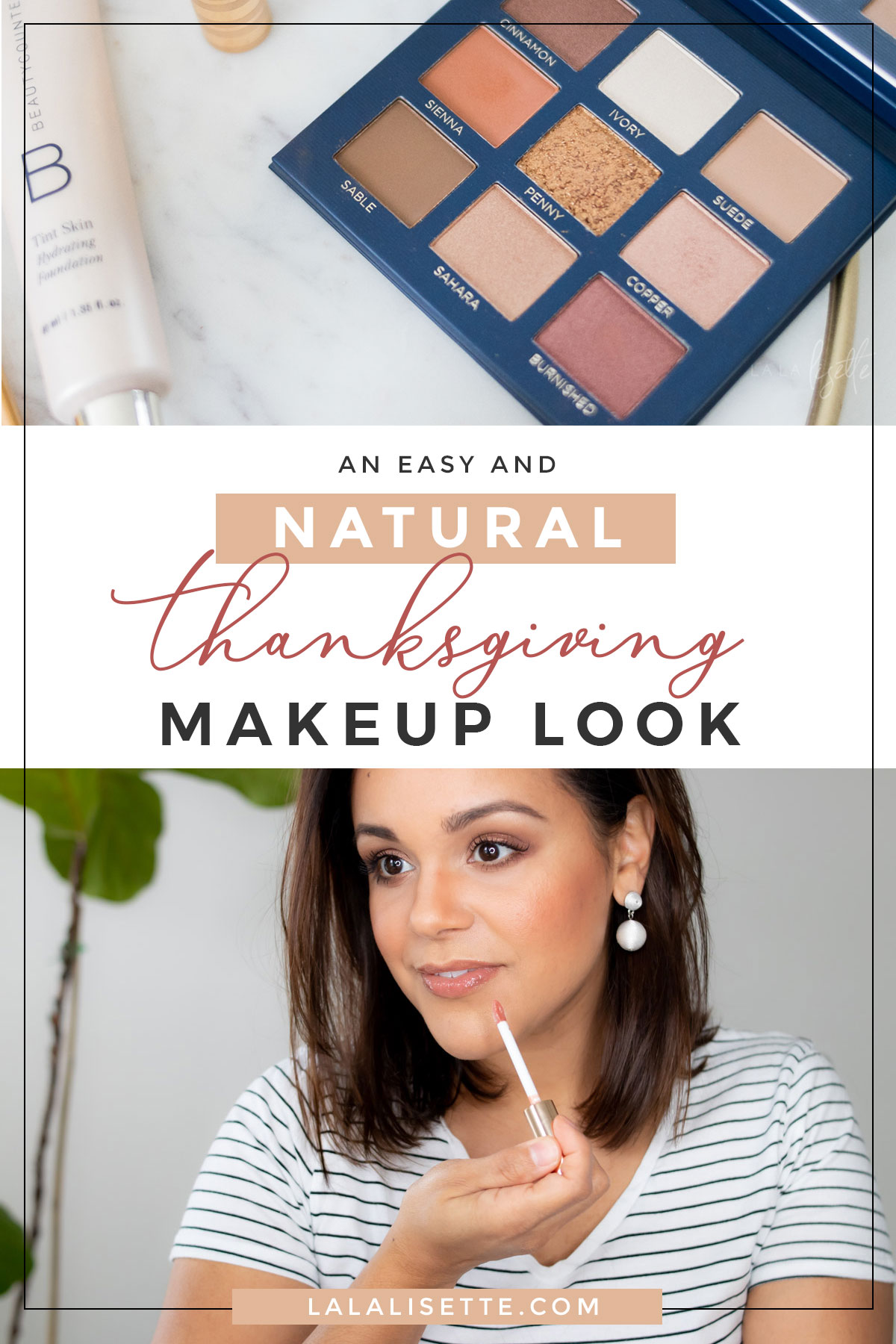 Easy and Natural Thanksgiving Makeup Look #beautycounter #makeup #nudelip #easymakeup #makeuplook #beauty